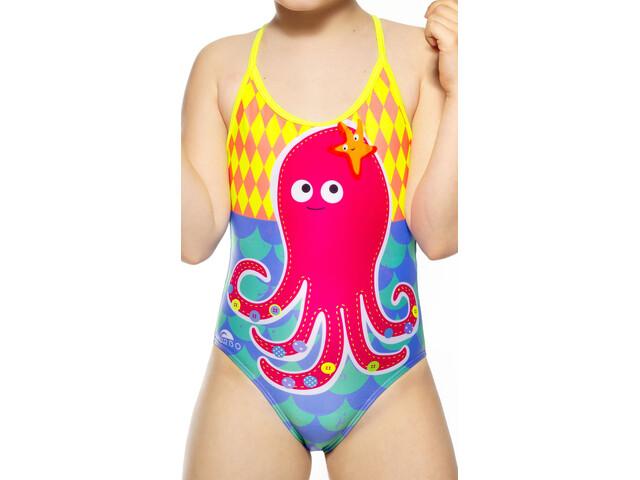 Turbo Octopus Swimsuit Piger, multicolor